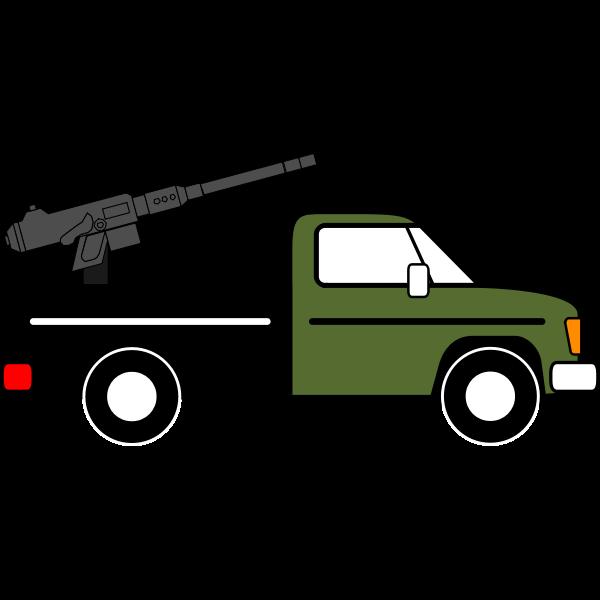 Fighting vehicle vector clip art