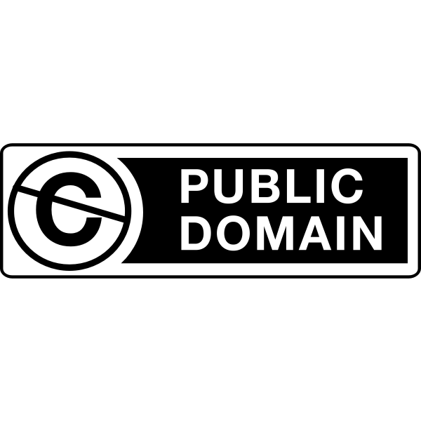 Public domain sign vector clip art