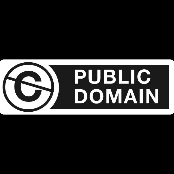 Public domain logo vector clip art
