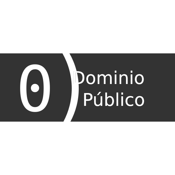 Public domain tag in Spanish vector image