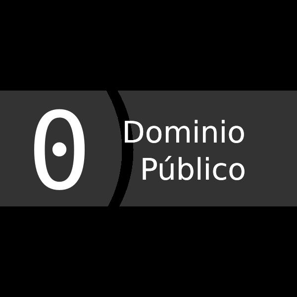 Public domain tag in Spanish vector image