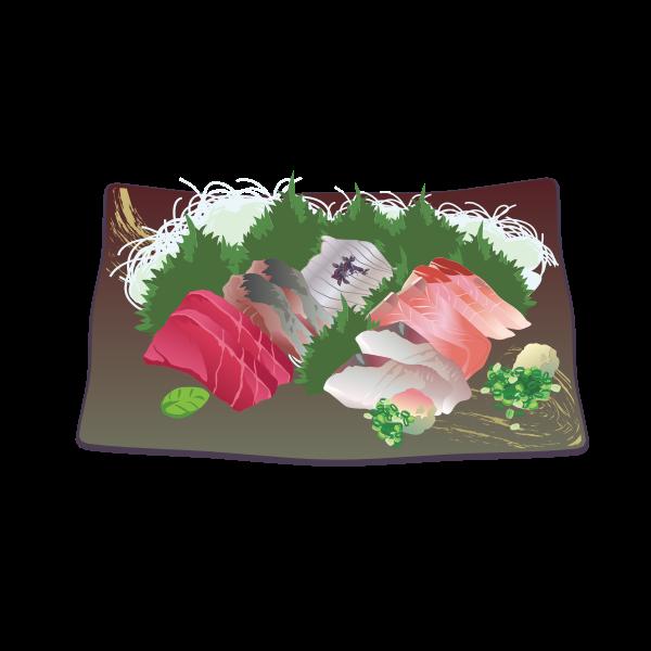 Raw fish vector image