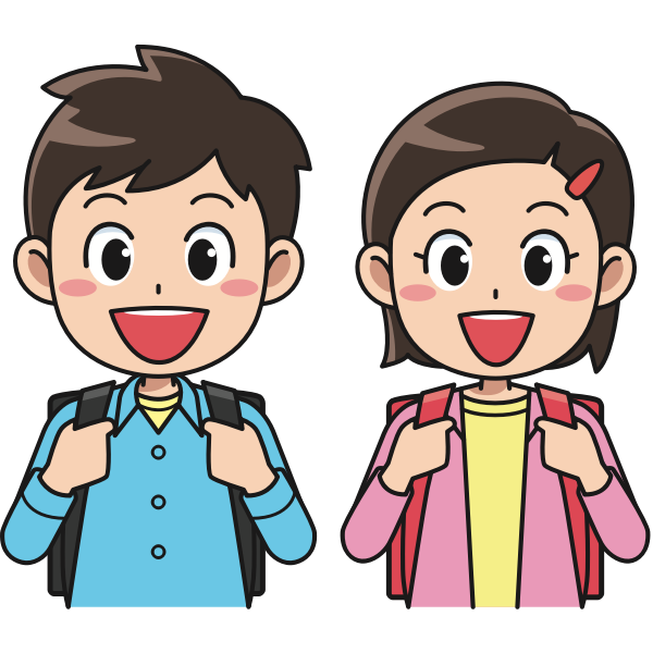 Students with backpacks image