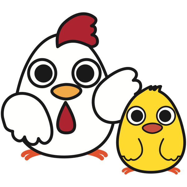Chicken with chick