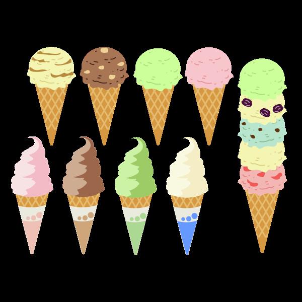 Ice Cream Cones 2 Free Svg