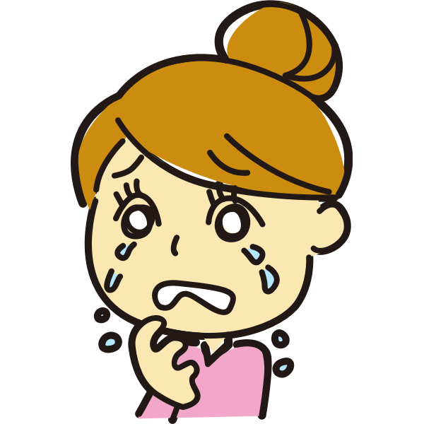 Crying female vector image
