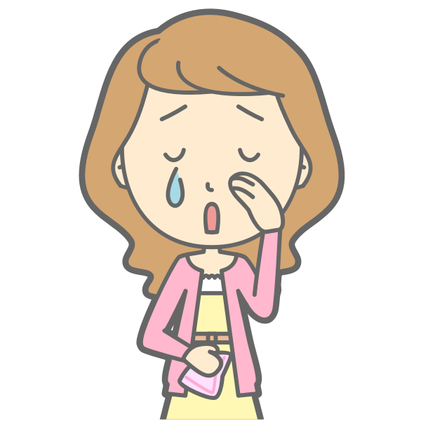 Crying lady vector illustration