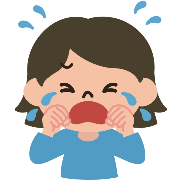 Crying lady vector image