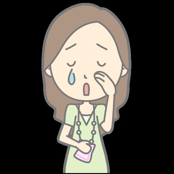 Cartoon lady crying