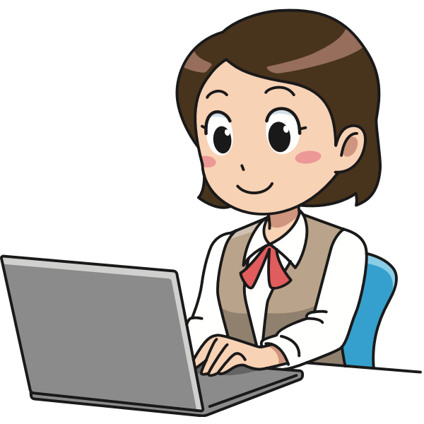 Female computer user image
