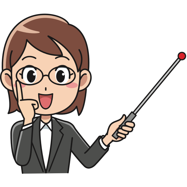 Girl with teaching stick