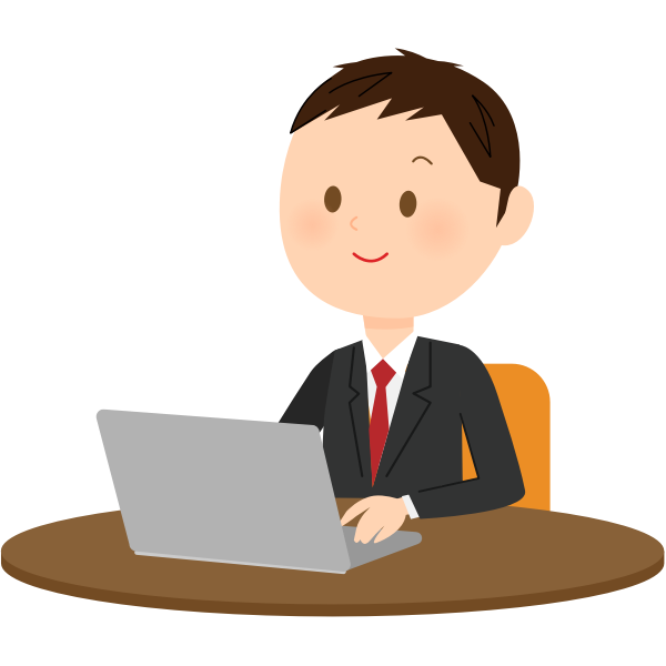 Male computer user vector image