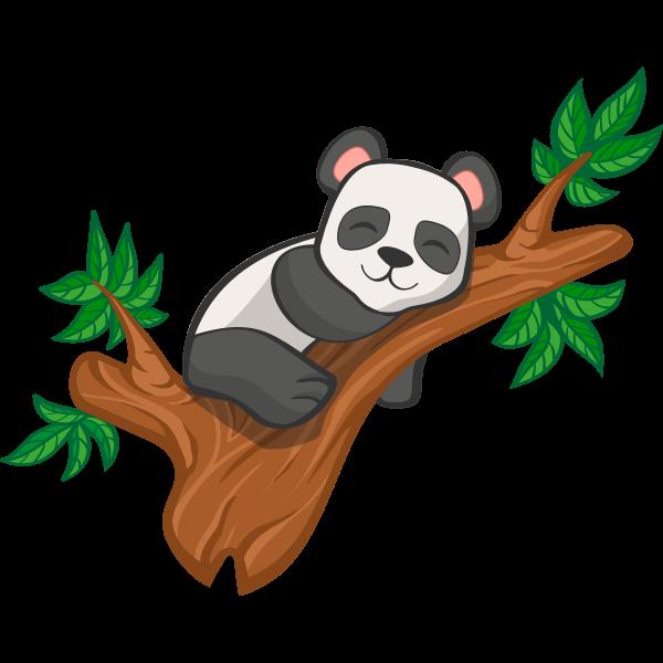 Sleeping cartoon panda