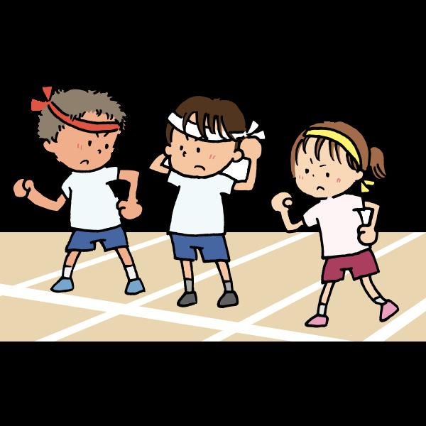 Kids on starting line