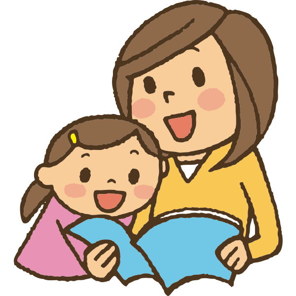 Reading with mother