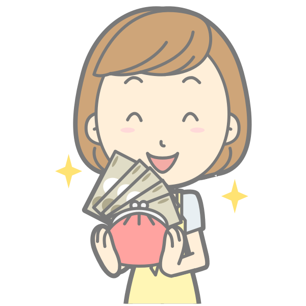 Girl with full wallet