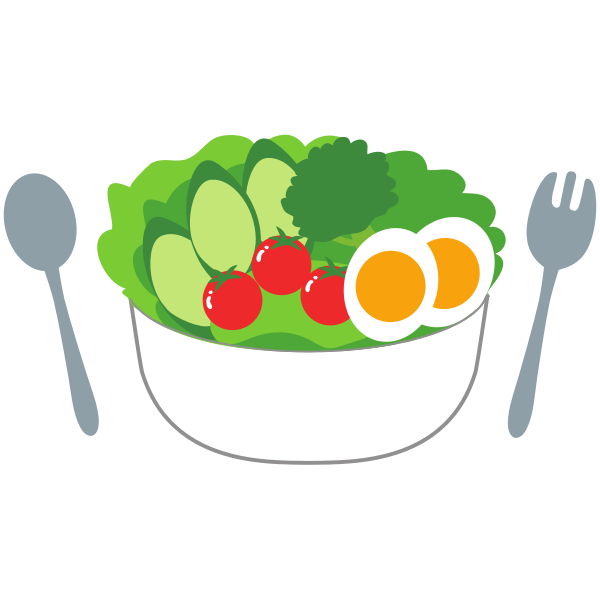 Salad with fresh tomatoes, cucumber and eggs