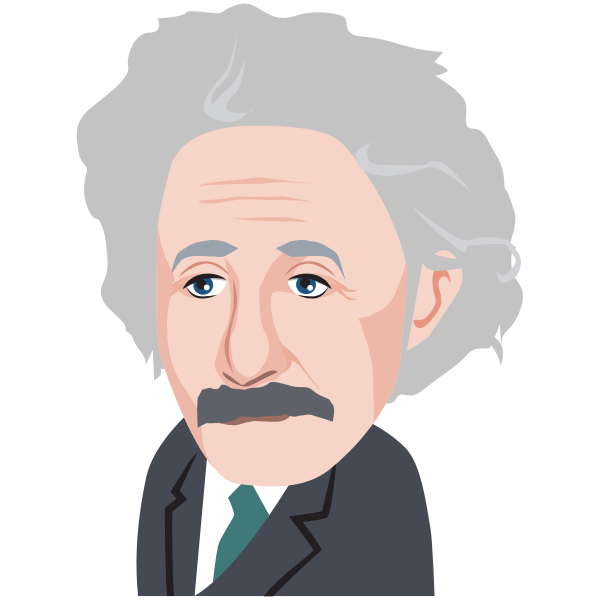 Albert Einstein cartoon image