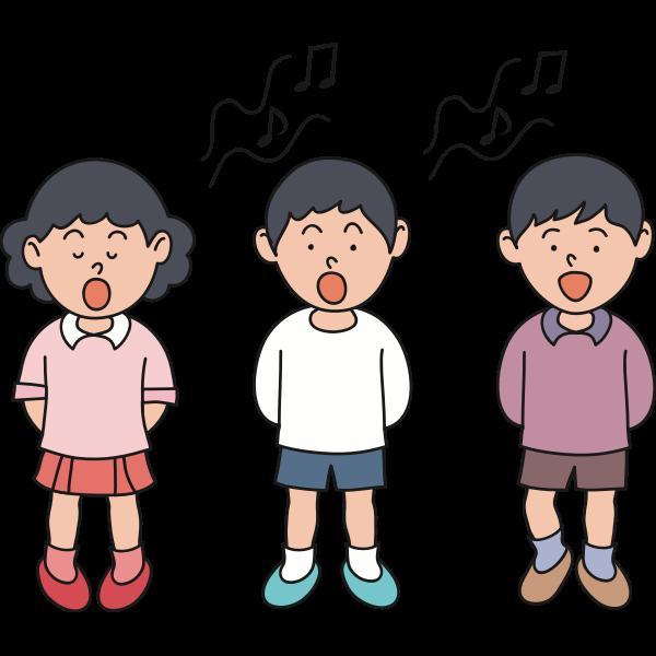 Children singing image