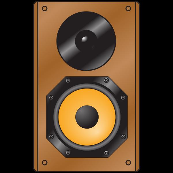 Wooden speaker - front view