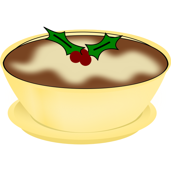 pudding round bowl with footer
