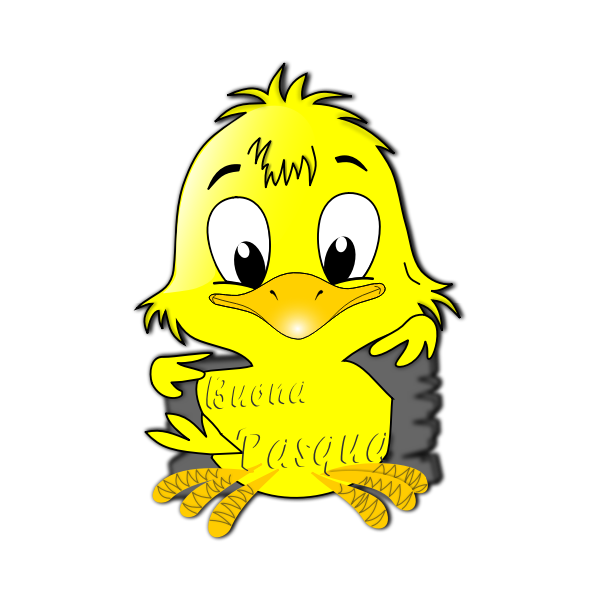 Vector image of cute chick