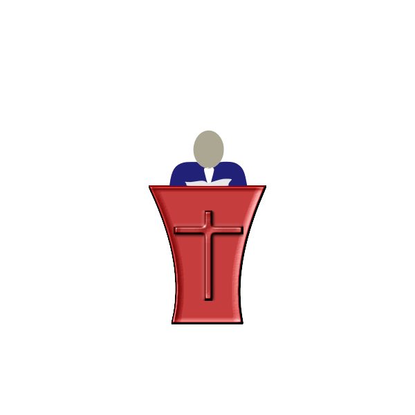 Pope standing on a church pedestal vector illustration