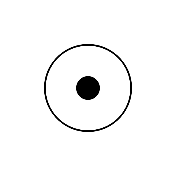 Pulse button NO (normally open) electrical symbol vector graphics