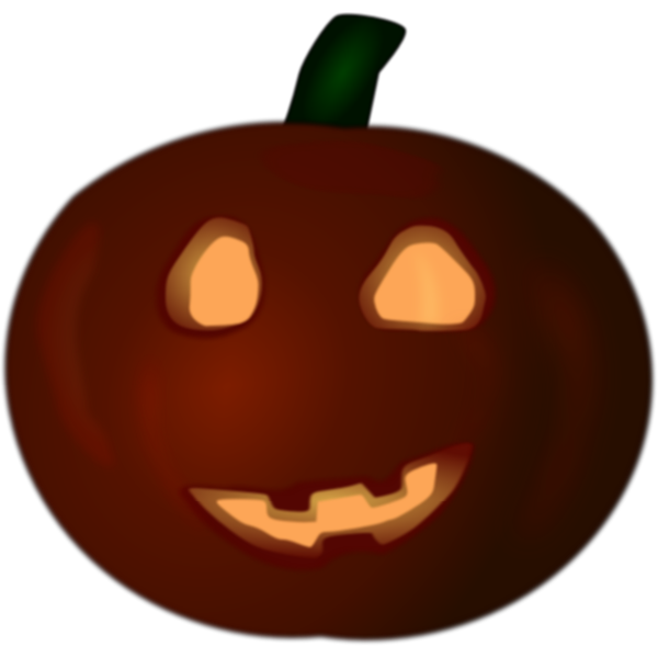 Brown Halloween pumpkin vector illustration