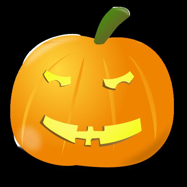 Puzzled pumpkin vector clip art