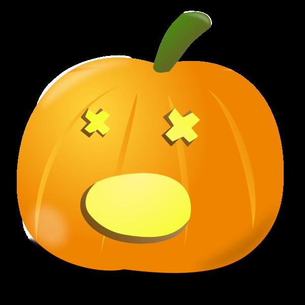 Amazed pumpkin vector graphics