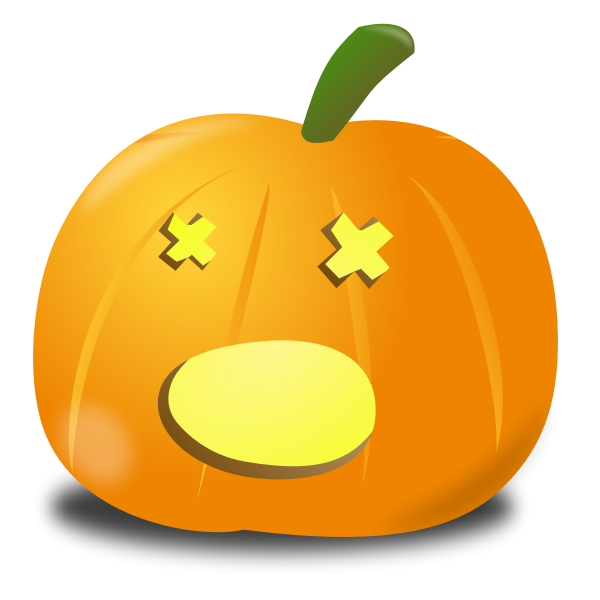 Amazed pumpkin vector graphics