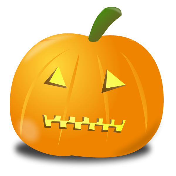 Zipped pumpkin vector drawing
