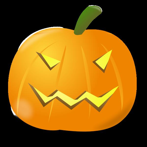 Evil pumpkin vector illustration