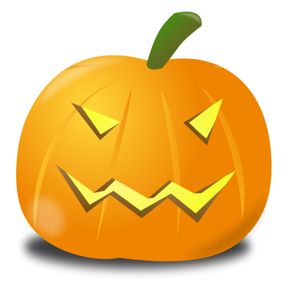 Evil pumpkin vector illustration