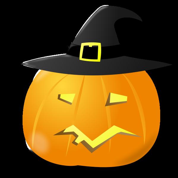 Witch pumpkin vector image