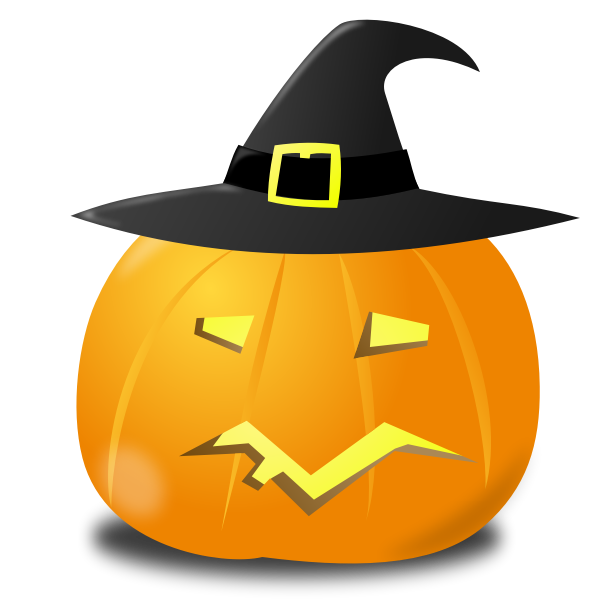 Witch pumpkin vector image