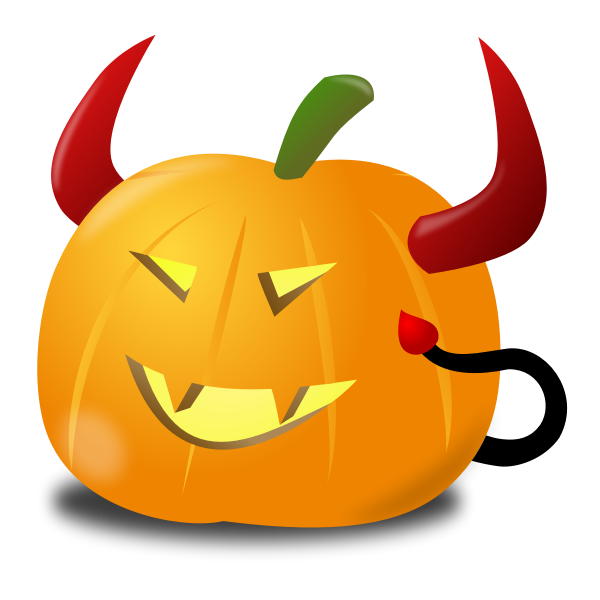 Devil pumpkin vector clip art