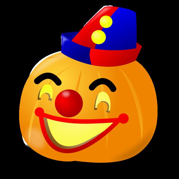 Clown pumpkin vector drawing