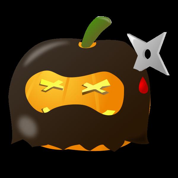 Ninja pumpkin vector illustration