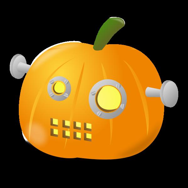 Robot pumpkin vector image