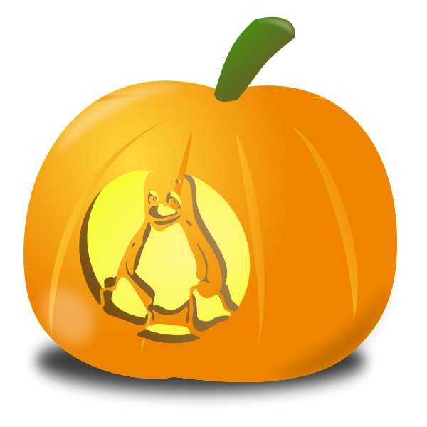 Tux pumpkin vector illustration