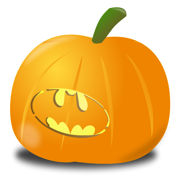 Bat pumpkin vector graphics