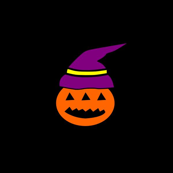 Black pumpkin vector clip art
