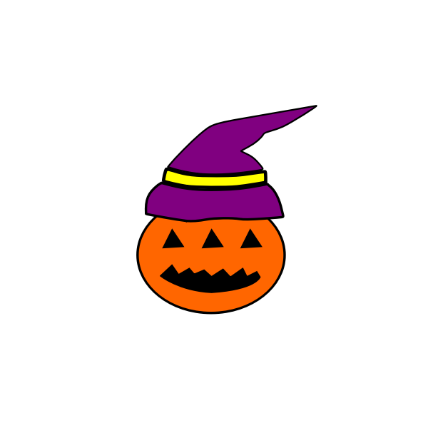 Tribal Halloween pumpkin vector image