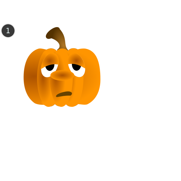 Pumpkins drawing animation tutorial sign vector clip art
