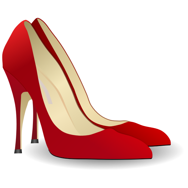 Red shoe vector drawing