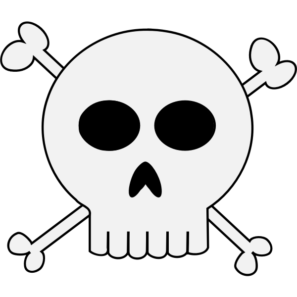 Punk skull vector illustration