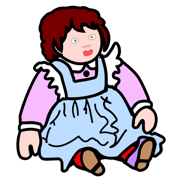 Image of coloured sitting doll