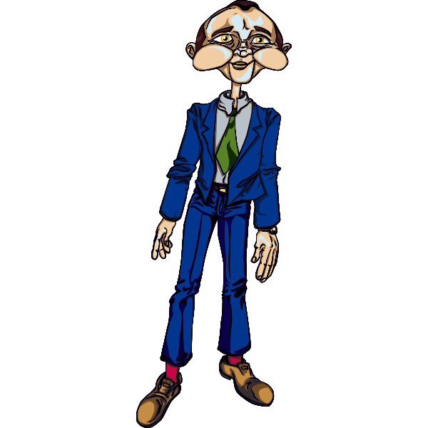 Creepy man image